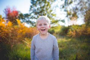 bright and colourful autumn family portraits