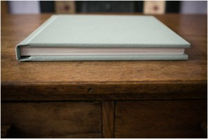 thick pages on modern wedding album