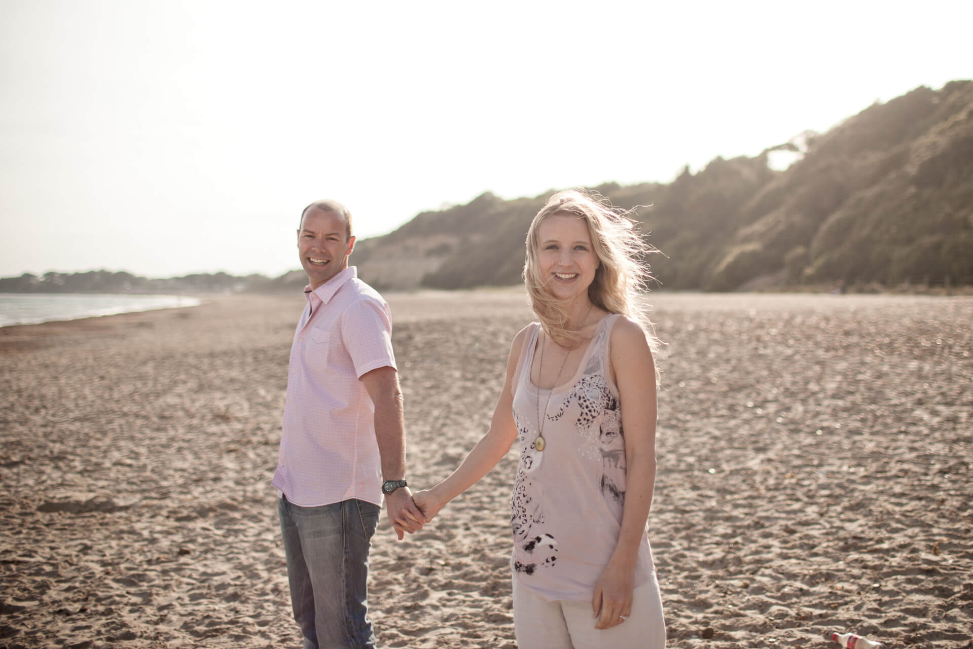 beach engagement portraits in Dorset